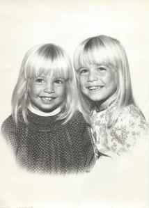 Kathy and Trina circa 1968