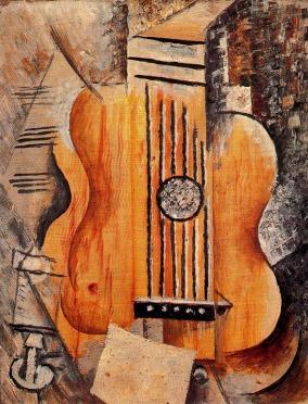 """Pablo Picasso """"Guitar (I Love Eva)"""" (1912)"""